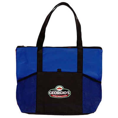 31056 - Full Color Zippered Non Woven Tote