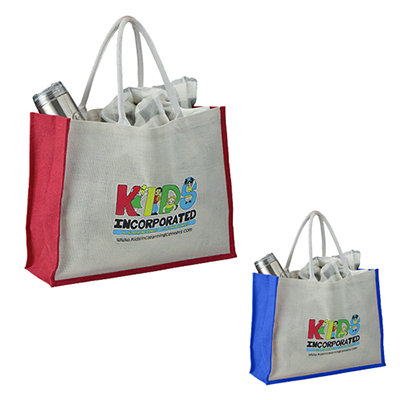 31078 - Full Color Jute Shopping Bag