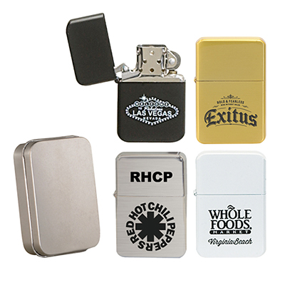 31132 - Oil Flip Top Wick Style Lighter (Without Oil)