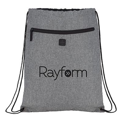 31391 - Graphite Drawstring Sportspack w/ Earbud