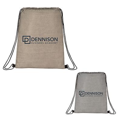 31392 - Graphite Non-Woven Drawstring Bag