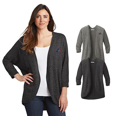 31546 - Port Authority Ladies Marled Cocoon Sweater