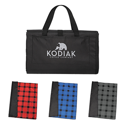 31602 - Buffalo Plaid Fleece Picnic Blanket