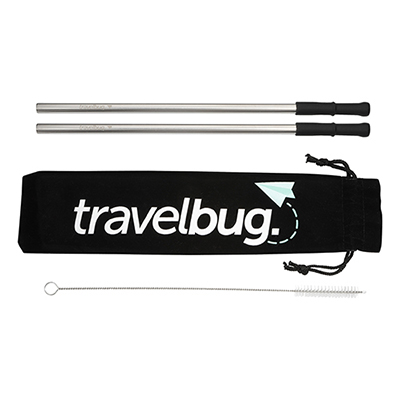 31635 - Reusable Stainless Steel Straw Set with Brush