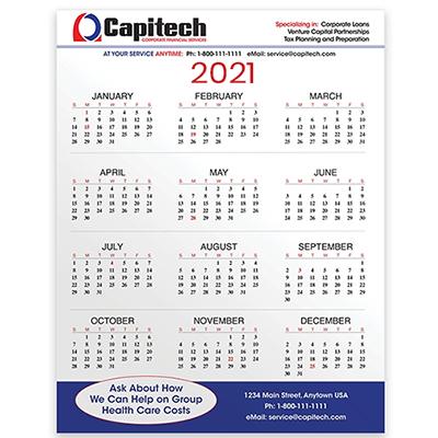 "31860 - PaperSplash 8 3/8 X 11"" Wall Calendar"