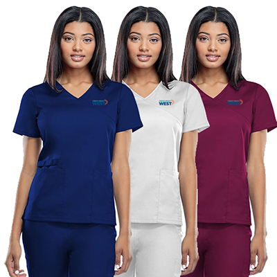 31905 - Cherokee Workwear Originals Women's Mock Wrap Tunic