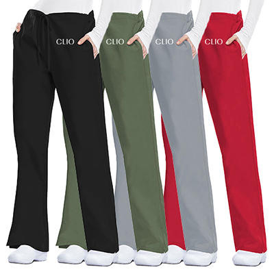 31922 - Cherokee Workwear Originals Women's Flare Drawstring Pants