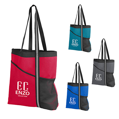 31934 - Dual Pocket Reflective Accent Tote