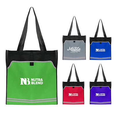 31931 - Poly Pro Reflective Accent Tote