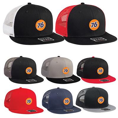 31989 - Round Flat Visor Pro Style Snapback Hat