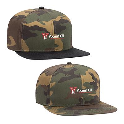 31990 - 6 Panel Pro Style Camouflage Snapback Hat