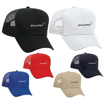 32004 - Promo Cotton Blend Twill Pro Style Mesh Back Trucker Hat
