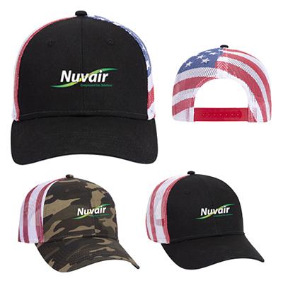 32016 - American Flag Mesh Back Baseball Cap