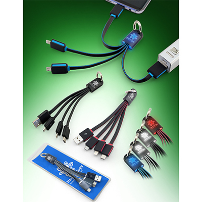 32098 - Orbital 3 in 1 Light-Up Charging Cable
