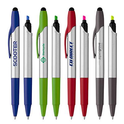 32143 - Trinity II  Highlighter Ballpoint Stylus Pen