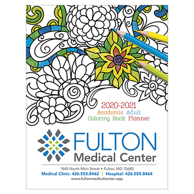 32255 - Adult Coloring Book Planner - Academic