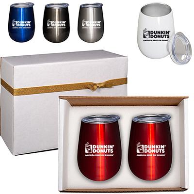 32326 - Duo Vacuum Stemless Wine Tumbler Gift Set