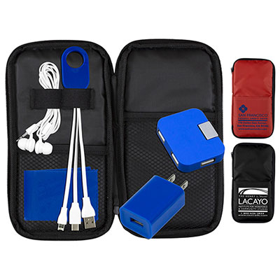 32390 - TravPouch Deluxe Cell Phone Charging and Accessory Travel kit