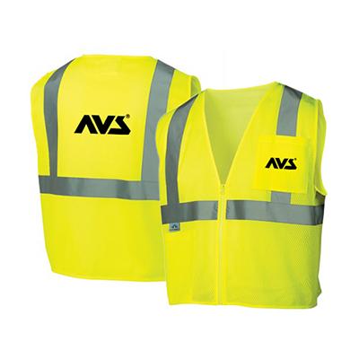 32401 - Economy Hi Vis Lime Class 2 Zipper Vest