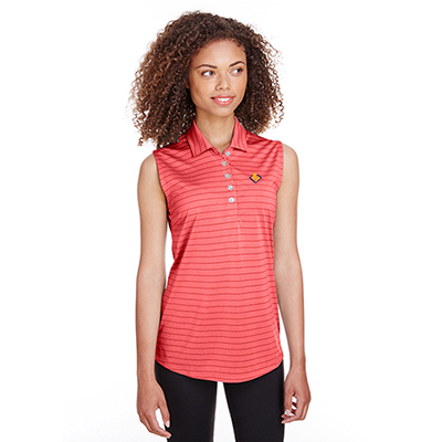 32492 - Puma Golf Ladies' Rotation Stripe Sleeveless Polo