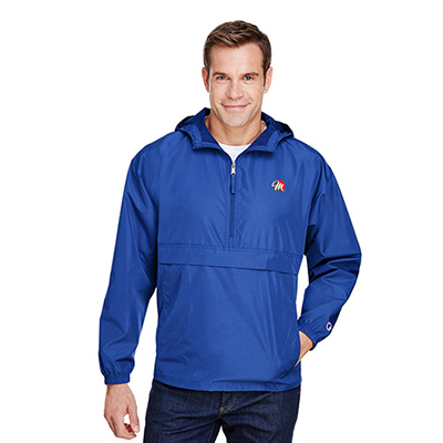 32496 - Champion Adult Packable Anorak 1/4 Zip Jacket