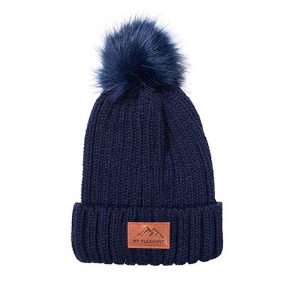 32548 - Leeman™ Knit Beanie with Fur Pom Pom