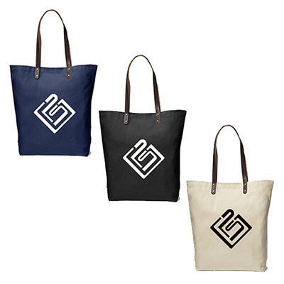 32546 - Urban Cotton Tote with Leather Handles