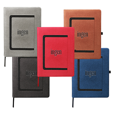 32555 - Large Roma Journal with Horizontal Phone Pocket