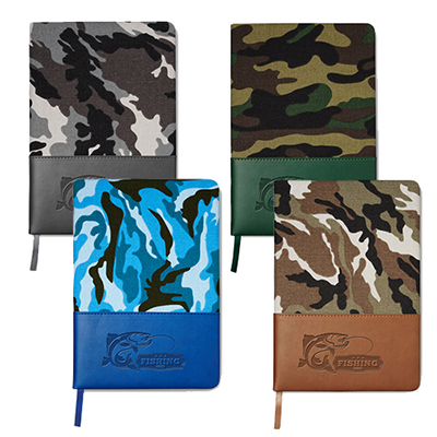32558 - Hard Cover Camo Canvas Journal 5 x 8