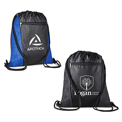 32587 - Constellation Polyester Drawstring Backpack