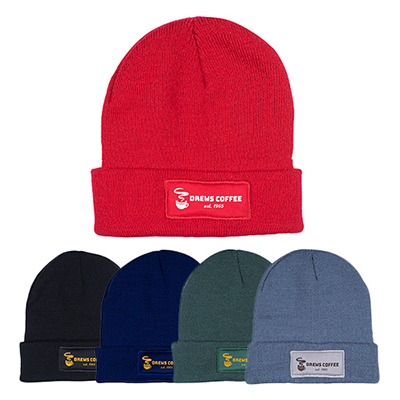 32613 - Knit Beanie with Patch