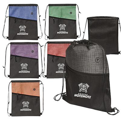 32670 - Tonal Heathered Non-Woven Drawstring Backpack