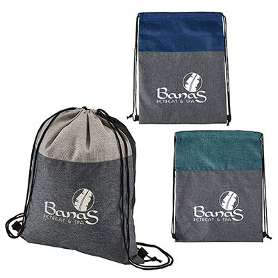 32687 - Heathered N'Jute Drawstring Backpack