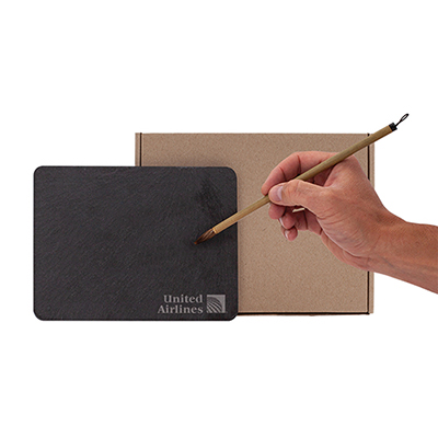 32823 - Parson Reusable Calligraphy Slate and Bamboo Brush