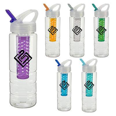 32840 - 25 oz. PolySure™ Ridge Bottle w/Fruit Infuser