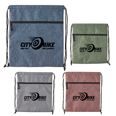 32844 - Twill Drawstring Backpack