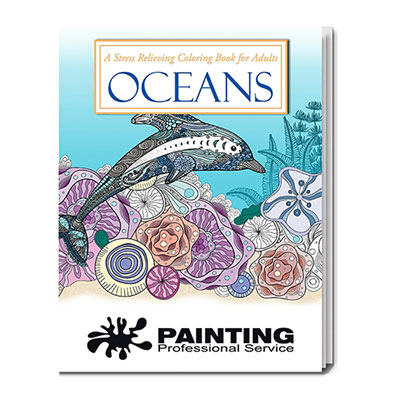 32891 - Oceans Stress Relieving Coloring Book for Adults