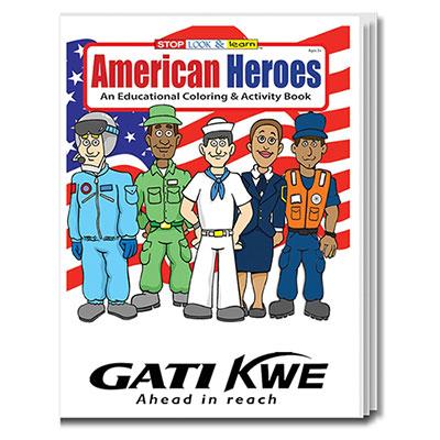 32895 - American Heroes Coloring Book