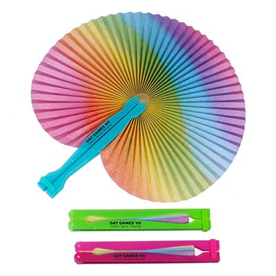 32941 - Rainbow Folding Fan