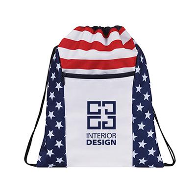 32953 - Patriotic Drawstring Backpack