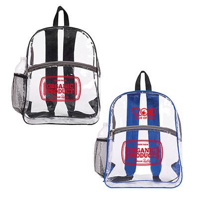 32962 - Clear Zipper Backpack