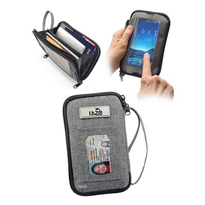 33017 - Tekie Smartphone RFID Clutch Bag - Gray