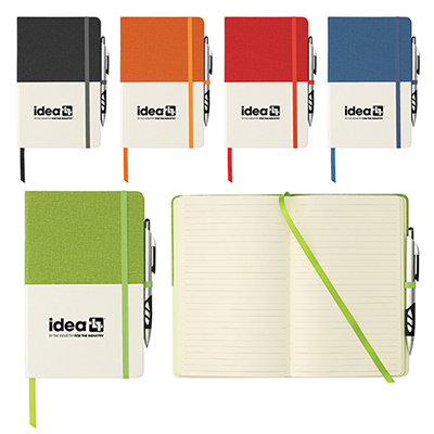 """33174 - 5"""" x 8"""" Two Tone Bound Notebook"""