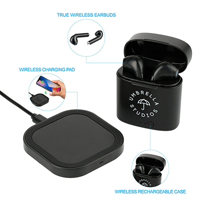 33195 - Oros TWS Auto Pair Earbuds & Wireless Charging Pad