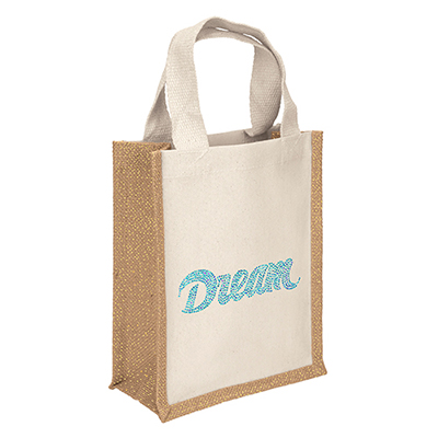 33206 - Glitz Tote Bag With Sparkle With Imprint