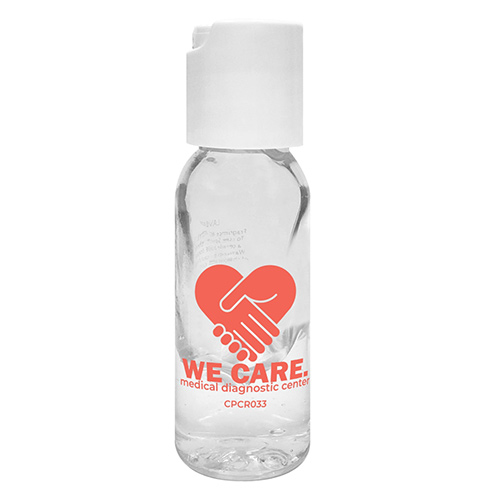 33404 - 1 oz. Round Bottle Hand Sanitizer Gel