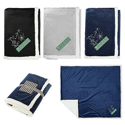 33587 - Field & Co 100% Recycled PET Sherpa Blanket