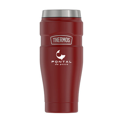 33668 - 16 oz. Thermos® Double Wall Stainless Steel Travel Tumbler