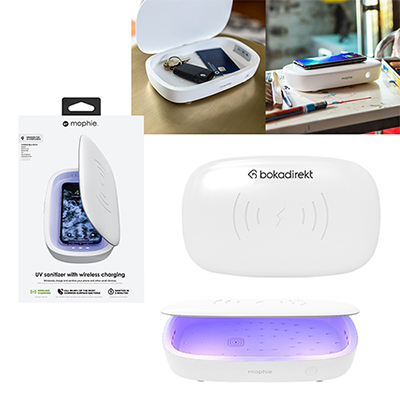 33714 - Mophie® UV Sanitizer with Wireless Charging