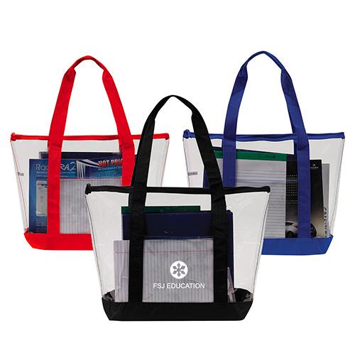33743 - Clear Zipper Tote Security Bag